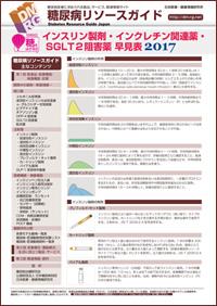 インスリン製剤・インクレチン関連薬・SGLT2阻害薬早見表2017